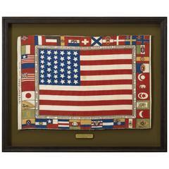 "39-Star Patriotic ""Unoffical Flag"" Bandana, circa 1876-1889"