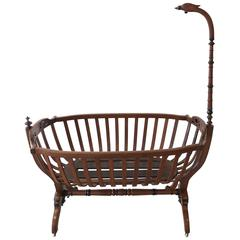 19th Century French Swan Cradle