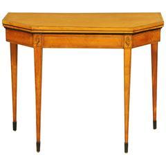 George III Satinwood Card Table