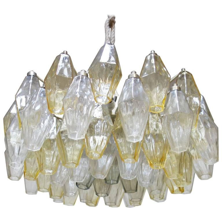 Small 'Poliedri' Chandelier by Carlo Scarpa