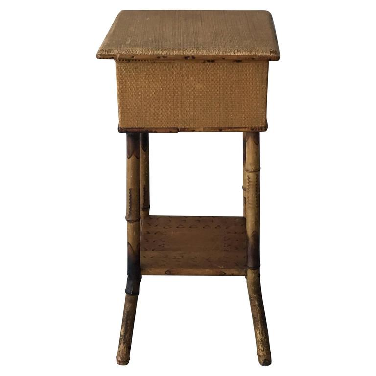 1920s bamboo and raffia side table plant stand for sale at for Bamboo side table