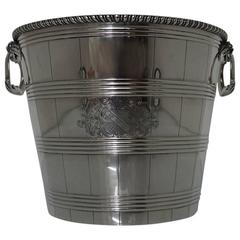 Sterling Silver Geo iii Wine Cooler or Champagne Bucket Richard Gardner