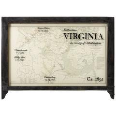 Northeastern Virginia and Vicinity of Washington Civil War Map