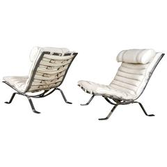 "Pair of ""Ari"" Lounge Chairs by Arne Norell, Sweden, 1970s"