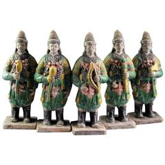 Ancient China Military Ming  Army 550 Years Old 34 Works of Art, Superb Glazes