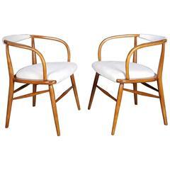 Pair of Elegant Sculptural Danish Modern Armchairs