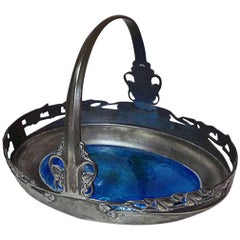 Archibald Knox for Liberty and Co Enamel Basket, English, circa 1900