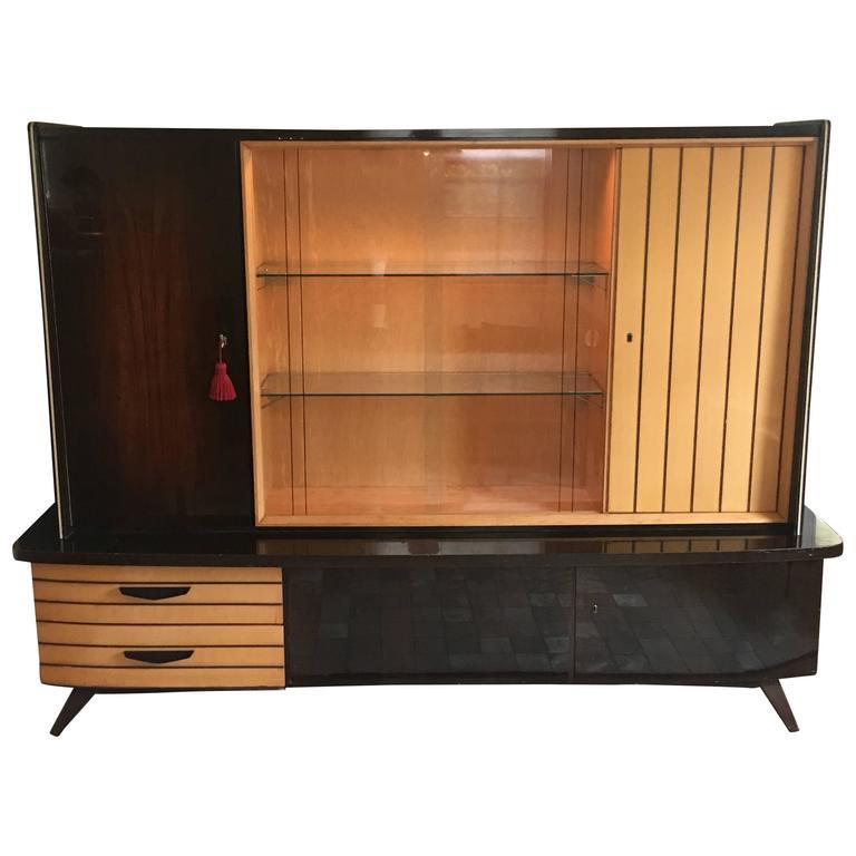 1950u0027s Mid Century Modern German Shrunk Cabinet For Sale