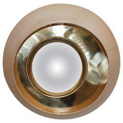 Round Parchment Convex Mirror