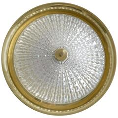 Flush Mount Ceiling or Wall Light Fixture by Carl Fagerlund for Orrefors