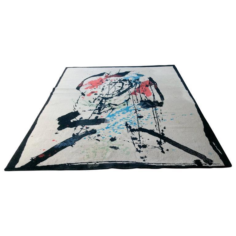 Ege Art Line Rug: Robert Jacobsen For Ege, Denmark Large Art Rug For Sale At