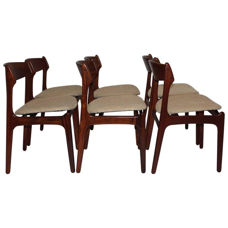 Dining Room Chairs by Erik Buck, 1967, Denmark Set of Six