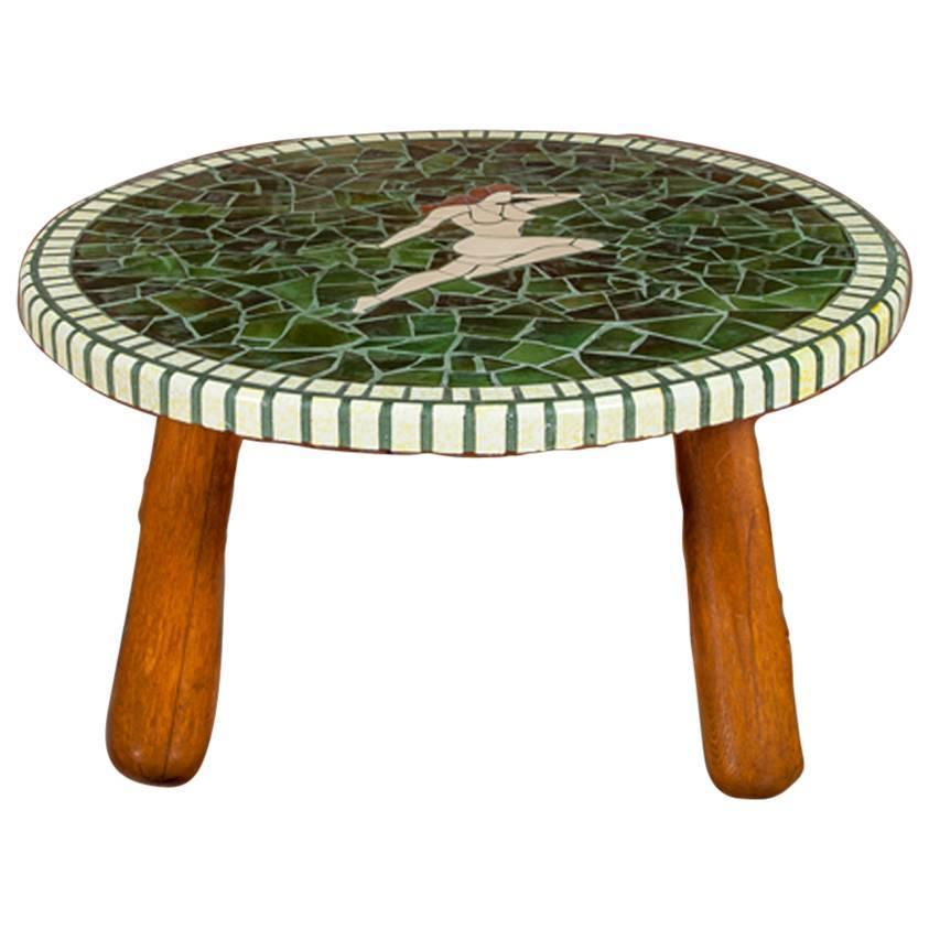 Good Quality Danish Mosaic Tile Top Coffee Or Low Table For Sale At 1stdibs
