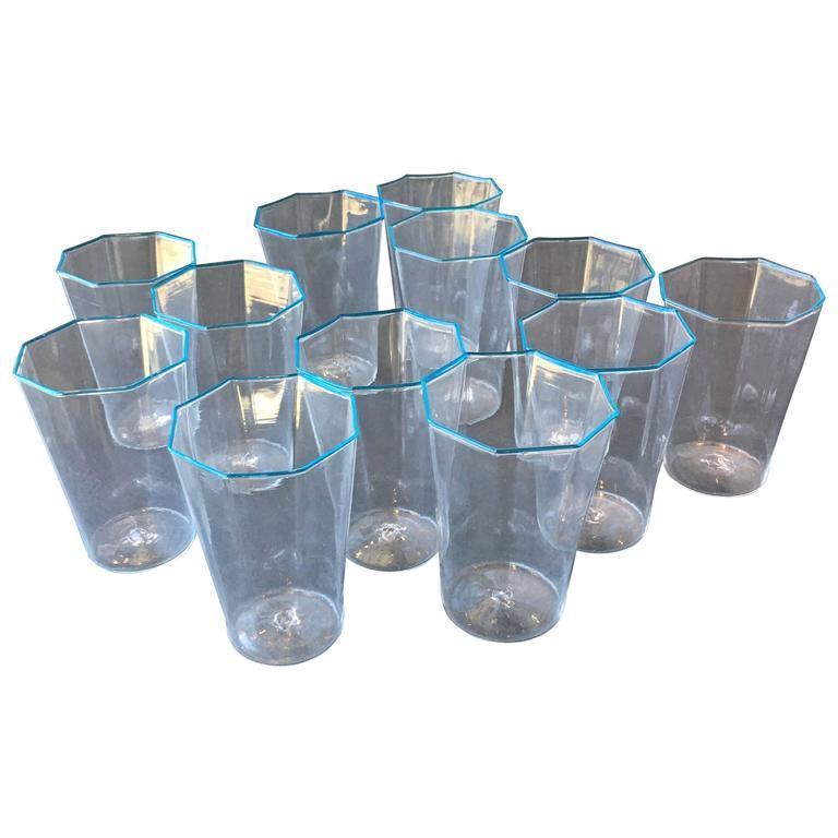 Set of 12 Handblown Salviati Murano Glasses 1