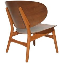 Shell Chair by Hans Wegner in Walnut and Beech