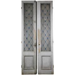 19th Century Pair of French Glass Doors