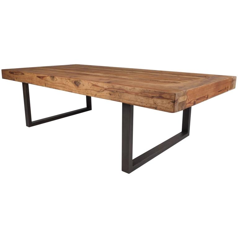 Bench Tables For Sale: Mid-Century Modern Style Industrial Work Table For Sale At