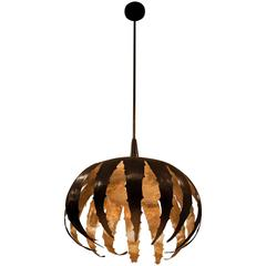 Contemporary Hammered Brass 'Liga' Pendant by Material Lust, 2016