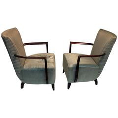 Elegant Pair of French Art Deco Armchairs