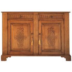 Antique Style Solid Golden Oak Sideboard Credenza Dresser Old Charm