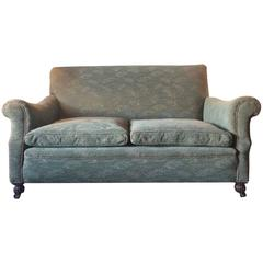 Antique Edwardian Drop End Sofa or Settee with Green Casters, Early 20th Century