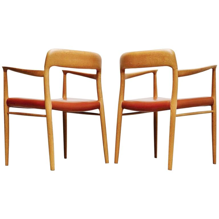 Niels Moller Model 56 Armchairs, Denmark, 1954 For Sale