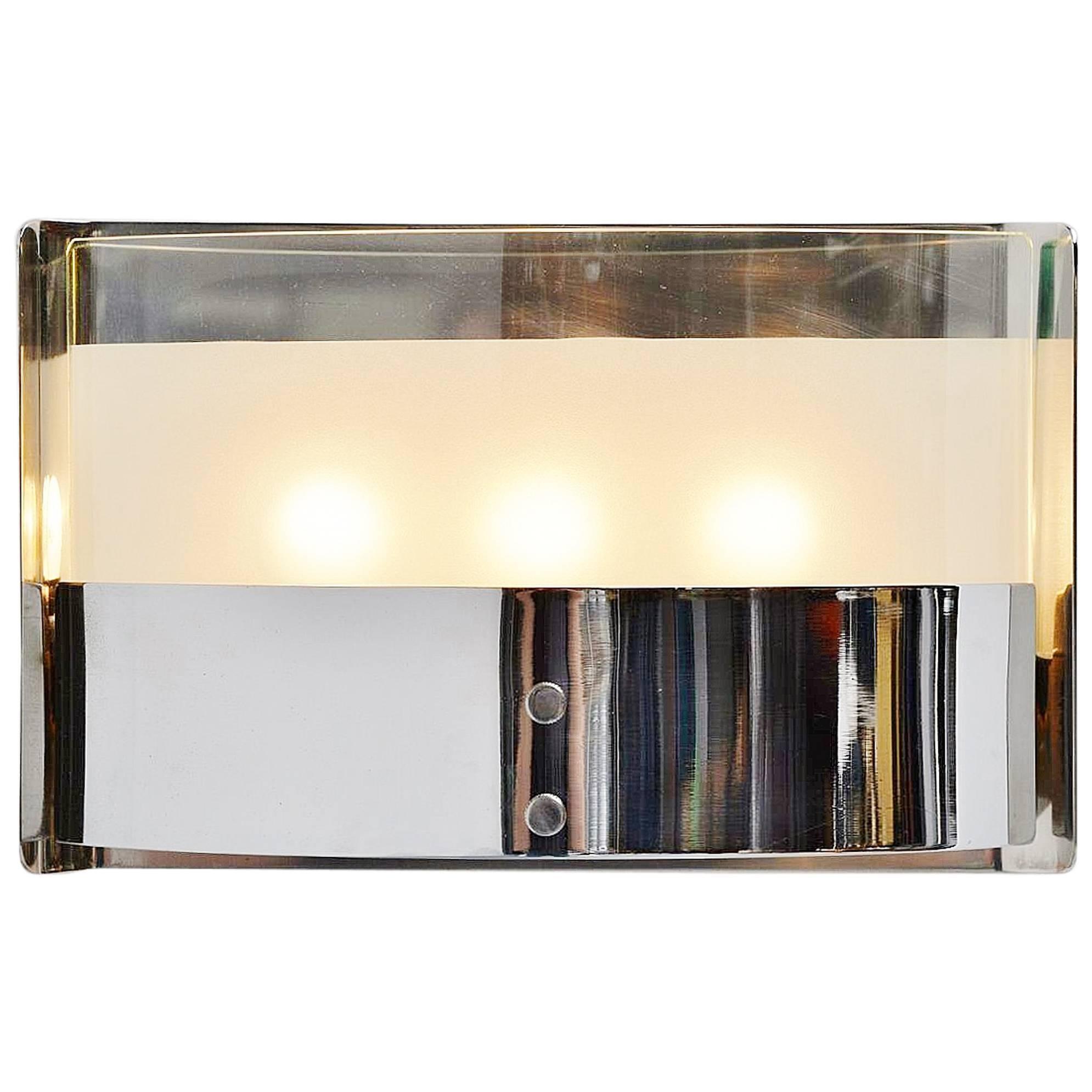 Luigi Caccia Dominioni Chrome Wall Lamp by Azucena, 1960