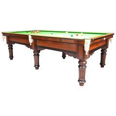 Elegant 3/4 Sized Antique Billiard Snooker Table, circa 1880