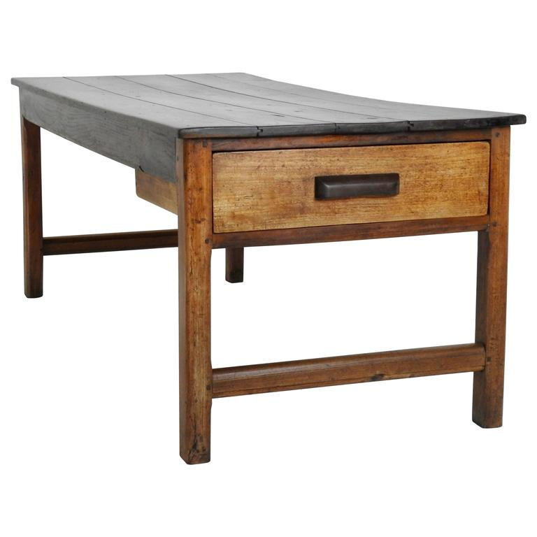 19th Century Country French Working Farm Table