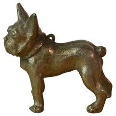 Mid-Century Metal Miniature French Bulldog