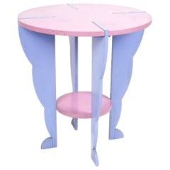 Ugo La Pietra Side Table Flessuosa Series, Post Modern 1985