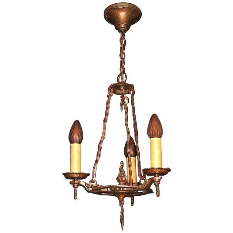 Vintage Craftsman Revival Chandelier