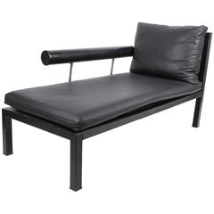 Elegant Leather Chaise Longue by Antonio Citterio for B&B Italy
