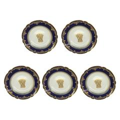 Set of Five French Plates by Medailles Dior