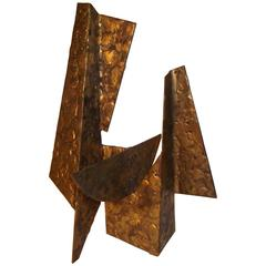 Jay McVicker Modern Art Abstract Bronzed Steel Sculpture