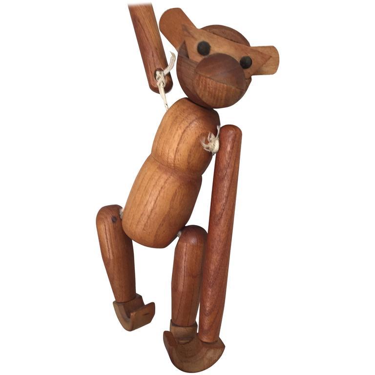 Vintage Danish Wooden Monkey By Kay Bojesen