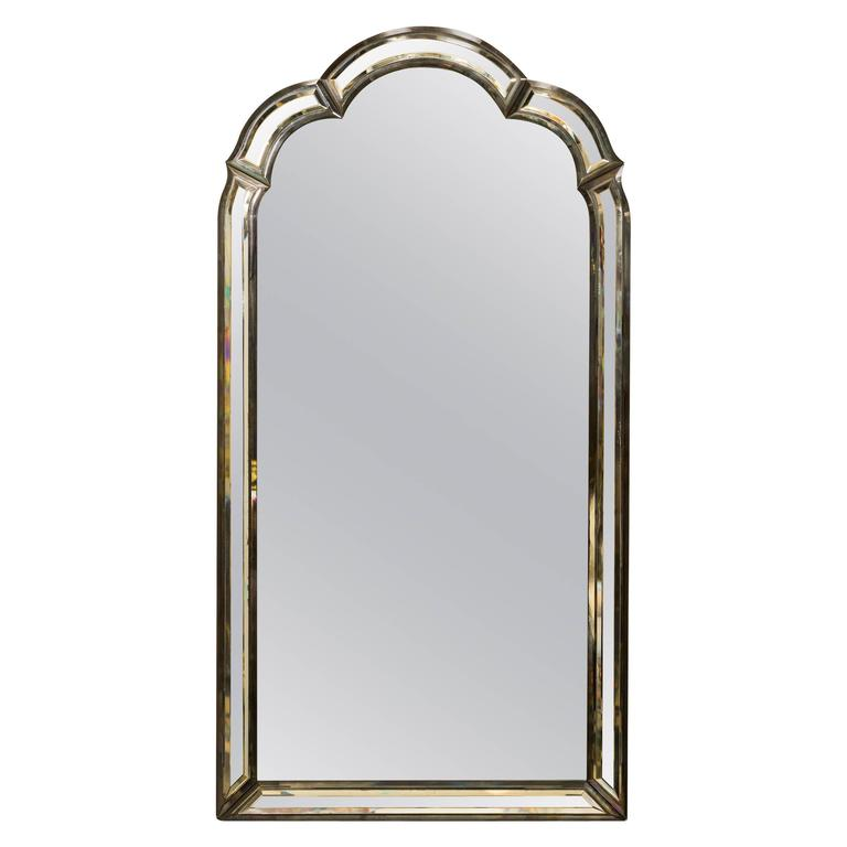 1950s Beveled Framed Mirror