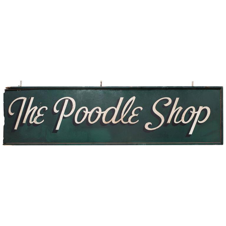 1950s Poodle Shop Sign