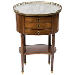 19th Century French Marble Top Side Table