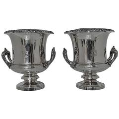 Pair of Old Sheffield Wine Coolers Matthew Boulton, circa 1830