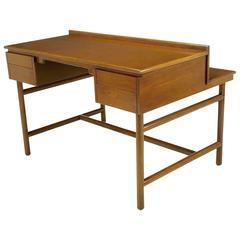 William Pahlmann Four-Drawer Walnut Desk with Integral Bookshelf