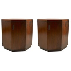 Pair of Rosewood  Octagonal Stands by Probber