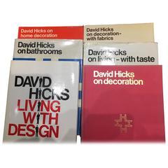 Complete Set of 6 (Six) First Edition David Hicks Design Books