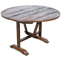 19th Century French Tilt-Top Wine Table