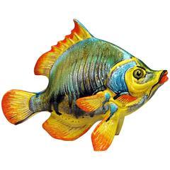 Large Vintage Italian Pottery Fish Figure Sculpture Mancioli Raymor