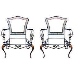 Pair of French Lounge Chairs in Manner of Rene Prou, 1940s
