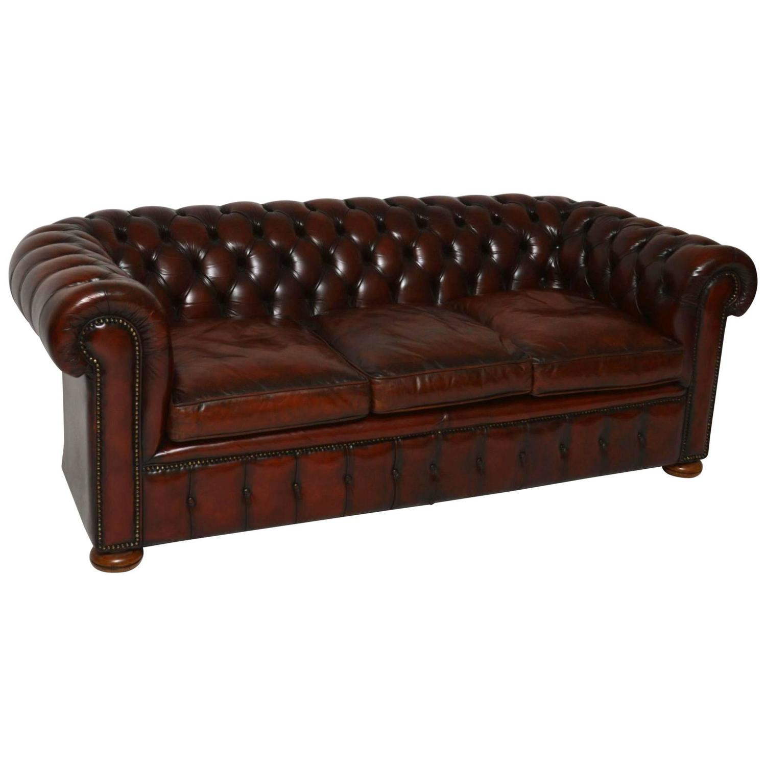 Leather Chesterfield Sofa For Sale antique leather chesterfield sofa in original leather for