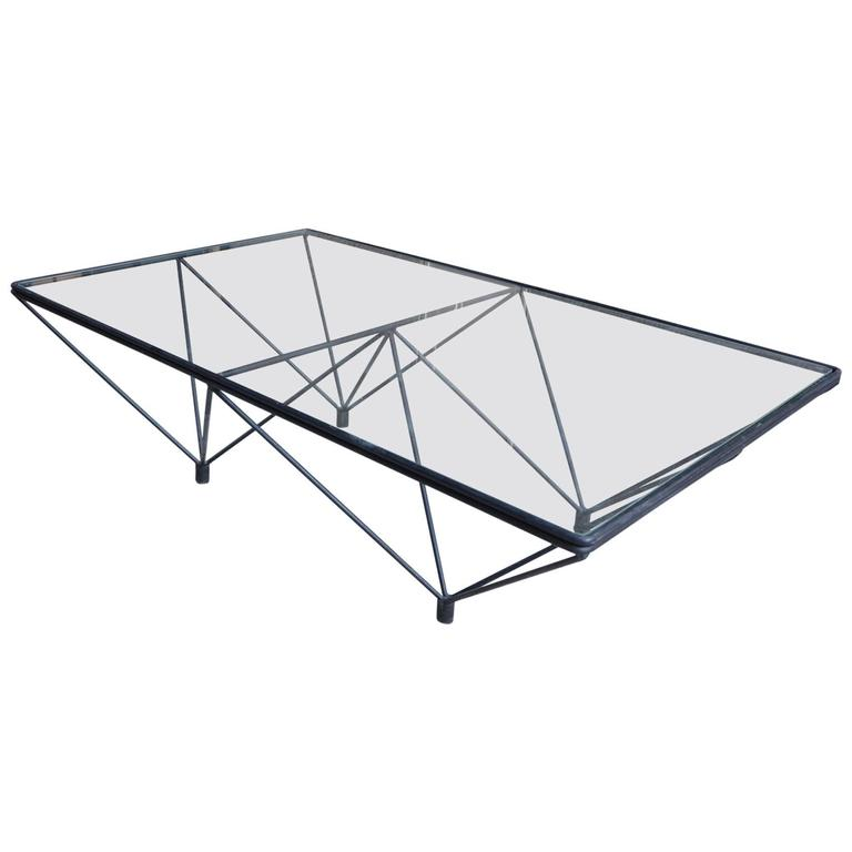 Artimeta Attributed Square Metal And Glass Coffee Table At: Cocktail Table Attributed To Paolo Piva, Circa 1980 For