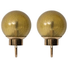 Pair of Wall Lamps Model V-118 by Bergboms in Sweden