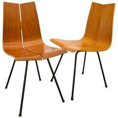 Beautiful Pair of Two Hans Bellman Chairs, circa 1950